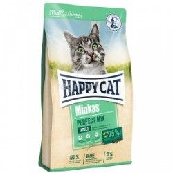 Сухой корм Happy Cat Minkas Perfect Mix Geflügel, Fisch & Lamm (домашняя птица, рыба иягненок) 10 кг