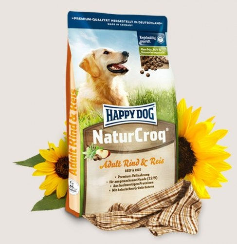 Сухой корм Happy Dog NaturCroq Rind&Reis (Говядина и рис) 15 кг