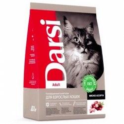 Сухой корм Дарси для взрослых кошек Мясное ассорти 10 кг