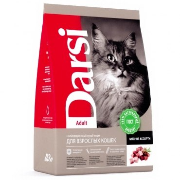 Сухой корм Дарси для взрослых кошек Мясное ассорти 1,8 кг
