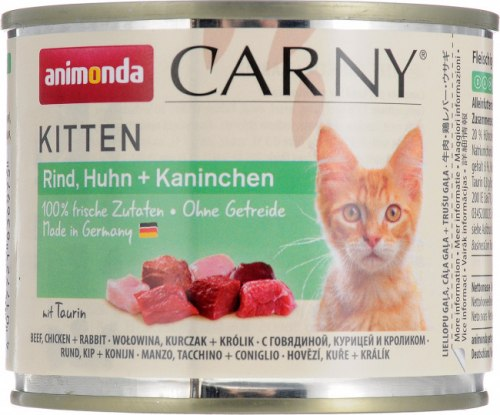 Консерва Animonda Carny для котят говядина, курица, кролик 400г