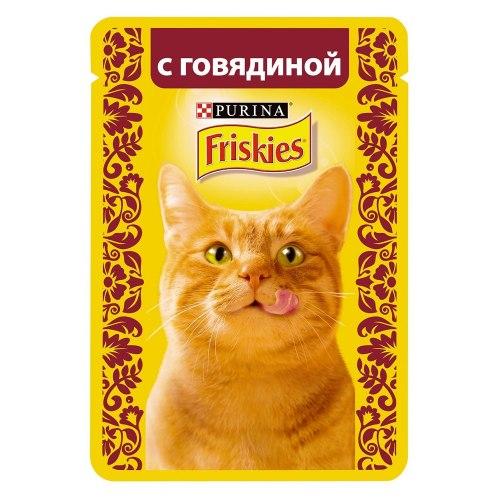 Консерва В НАЛИЧИИ Friskies с говядиной в подливе, 85г