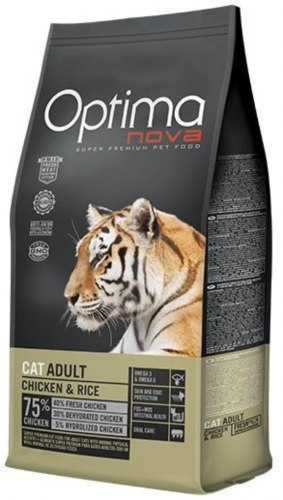 Сухой корм Optimanova CAT ADULT CHICKEN & RICE 8 кг