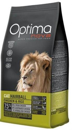 Сухой корм Optimanova CAT HAIRBALL CHICKEN & RICE 8 кг