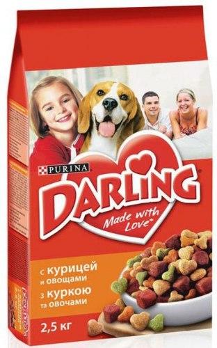 Сухой корм Darling с курицей и с добавлением овощей 10 кг