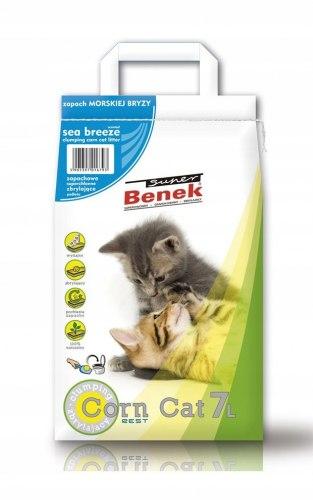Наполнитель S.Benek Corn Cat Morski Breeze 7 л