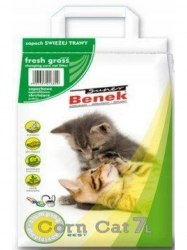 Наполнитель S.Benek 25L Corn Cat Свежая трава