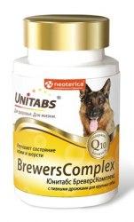 Витамины Unitabs BrewersComplex с Q10 для крупных собак