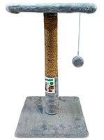 Когтеточка столбик с полкой 50 см, D9см, джут