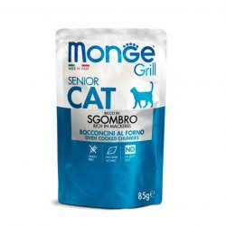 Консерва Monge Cat Grill Senior Mackerel, 85г