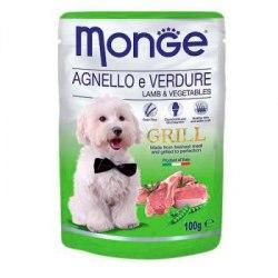 Консерва Monge Dog Grill Lamb/Veg 100г