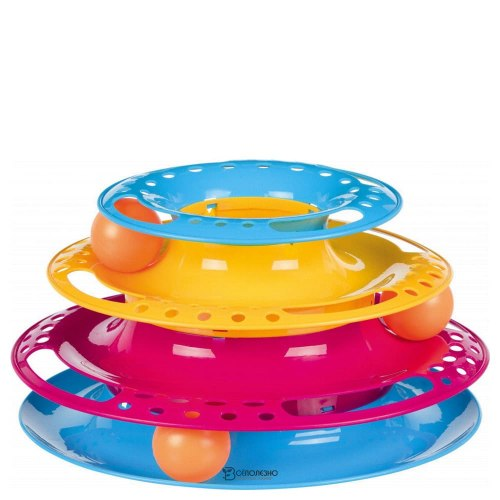 "Игра TRIXIE для кошек ""Catch the Balls"" в виде круглой башенки, 25 см/13 см"