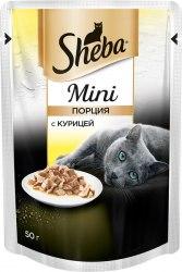 Консерва Sheba Мини порция. Курица 50г
