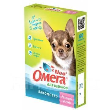 Лакомство Омега Нео для щенков, веселый малыш, 90 таб.