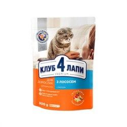 Сухой корм Club 4 Paws для взрослых кошек с лососем, НА РАЗВЕС 100 г
