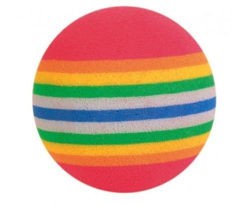 Игрушка TRIXIE каучуковая, мячик радужный, диам. 3,5 см