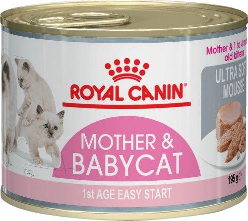 Мусс Royal Canin для котят с рождения до 4х месяцев BABYCAT INSTINCTIVE, 195г