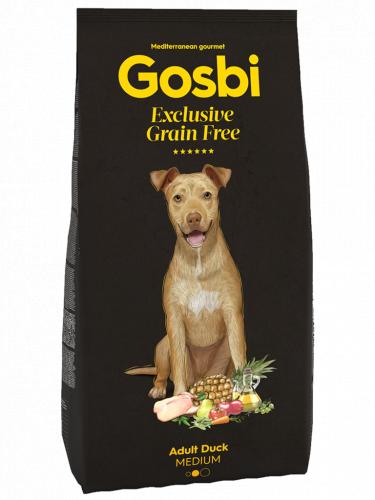Сухой корм Gosbi GRAIN FREE ADULT DUCK MEDIUM 12 кг