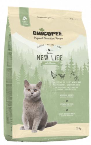 Сухой корм Chicopee CNL NEW LIFE для котят и беременных кошек 1,5 кг
