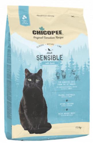 Сухой корм Chicopee CNL SENSIBLE гиппоалергенный с ягненком 1,5 кг