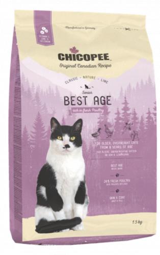 Сухой корм Chicopee CNL BEST AGE для пожилых котов 1,5 кг