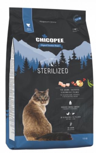 Сухой корм Chicopee HNL STERILIZED для стерилизованных 8 кг