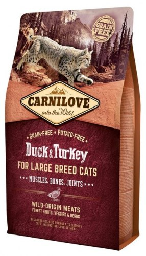 Сухой корм Carnilove Duck & Turkey for Large Breed Cats 6 кг