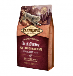 Сухой корм Carnilove Duck&Turkey for Large Breed Cats НА РАЗВЕС 100 г