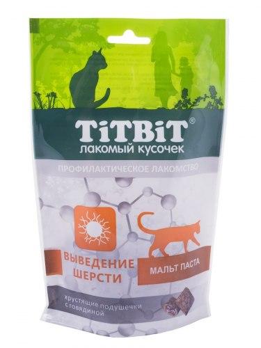 Хрустящие подушечки TiTBiT с говядиной, выведение шерсти 60г