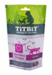 Хрустящие подушечки TiTBiT с индейкой, для здоровья сердца 60г