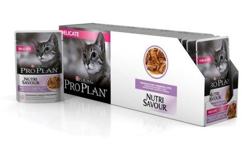 Консерва Pro Plan для взр.кошек с чувствительным пищеварением, с индейкой в соусе 24 шт/85 г