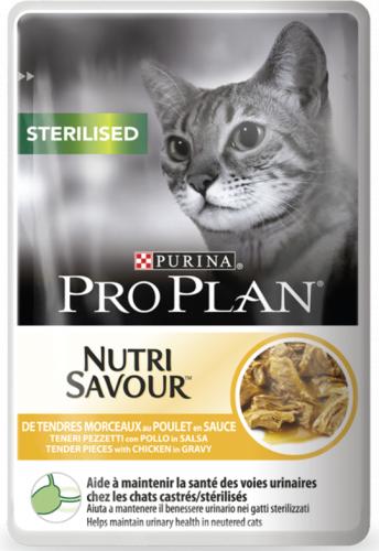 Консерва Pro Plan для стерилизованных кошек с курицей в соусе 24шт/85г