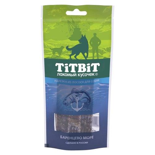 Лакомство TiTBiT нарезка из лосося для собак, 75г