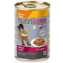 Консерва Nutrilove для кошек с курицей в желе, 400г
