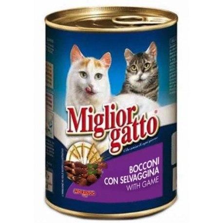 Консерва Miglior Gatto для кошек с дичью, 405г
