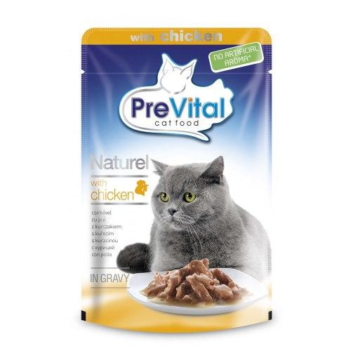 Консерва Prevital Nnaturel для взрослых кошек с курицей в соусе, 85г