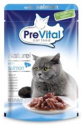 Консерва Prevital Naturel для взрослых кошек с лососем в соусе, 85г