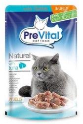 Консерва Prevital Naturel для взрослых кошек с тунцом в желе, 85г