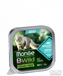 Консерва Monge Cat BW Adult Merluzzo/vegetables Grain Free 100г