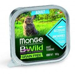 Консерва Monge Cat BW Adult Anchovies/vegetables Grain Free 100г