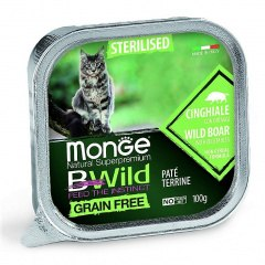 Консерва Monge Cat BW Sterelised Grain Free Boar/Vegetables 100г