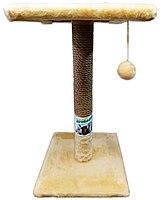 Когтеточка столбик с полкой 70 см, D9см, джут