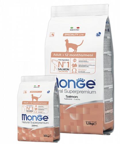 Сухой корм Monge CAT ADULT SALMON 10 кг