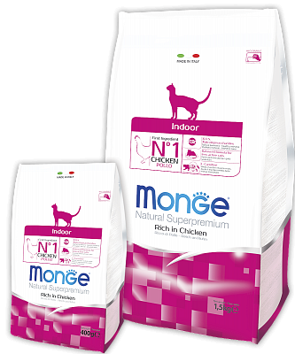 Сухой корм Monge Cat Indoor 1,5 кг