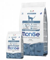 Сухой корм монопротеиновый Monge Sterilised Trout Cat 10 кг