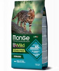Сухой корм Monge CAT BW GF Sterilized TUNA 1,5 кг