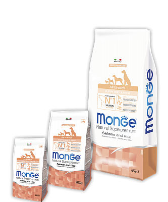 Сухой корм Monge Dog Puppy /Junior Salmon&Rice 15 кг
