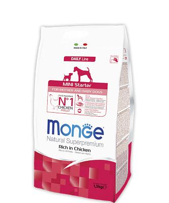 Сухой корм Monge Dog Mini STARTER 32/22 15 кг