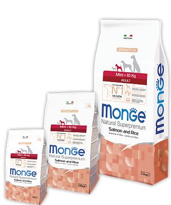 Сухой корм Monge Dog Mini Adult Salmon&Rice 2,5 кг