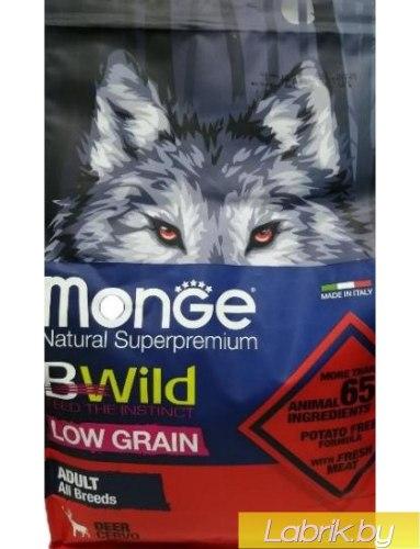 Сухой корм Monge Dog BWILD ADULT Deer 12 кг